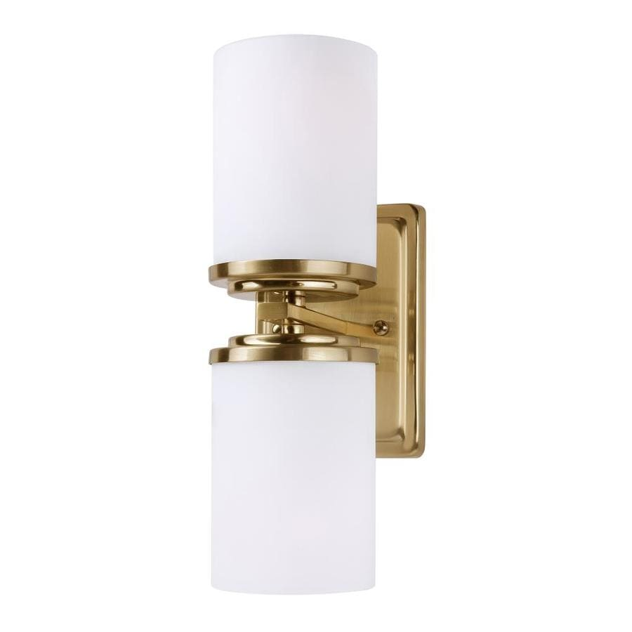 Forte Lighting Duo 4 5 In W 2 Light Soft Gold Modern Contemporary Wall Sconce In The Wall Sconces Department At Lowes Com