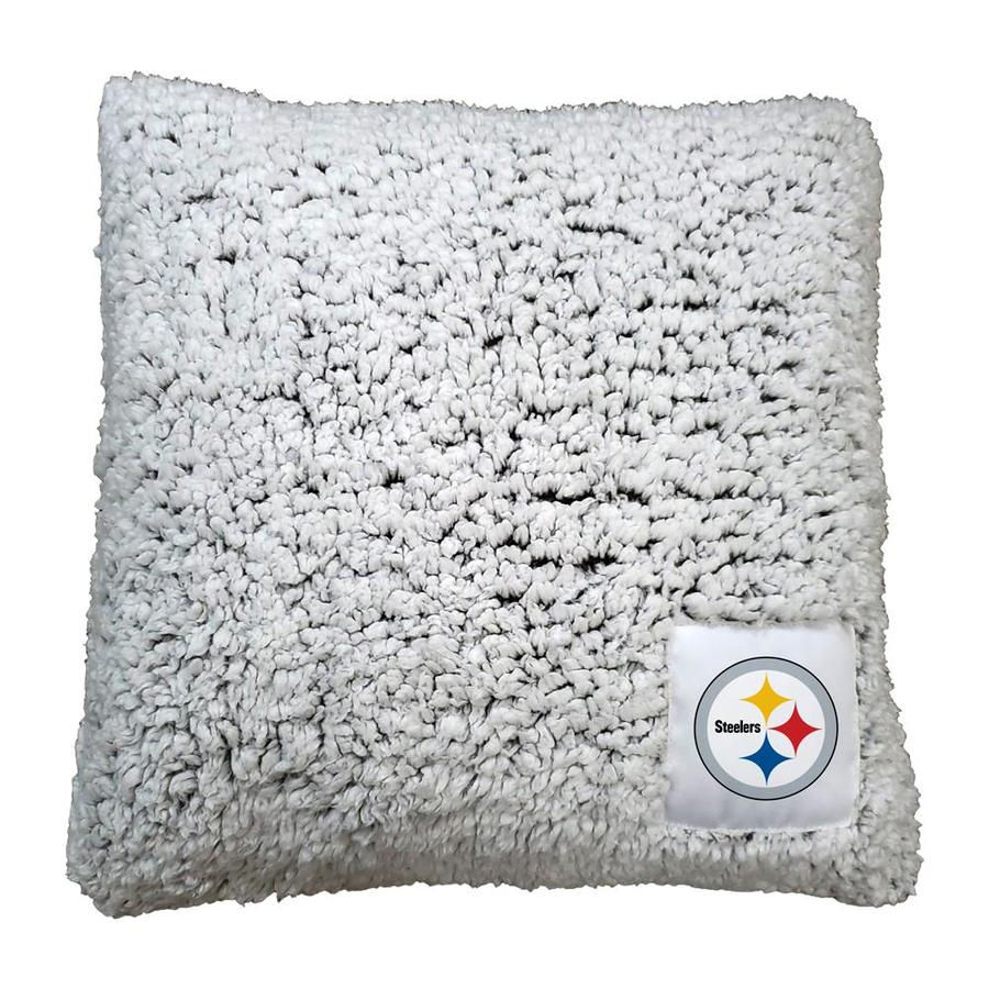 Logo Brands Pittsburgh Steelers Frosty Pillow 16 In X 16 In Oatmeal Sherpa Square Indoor Decorative Pillow In The Throw Pillows Department At Lowes Com