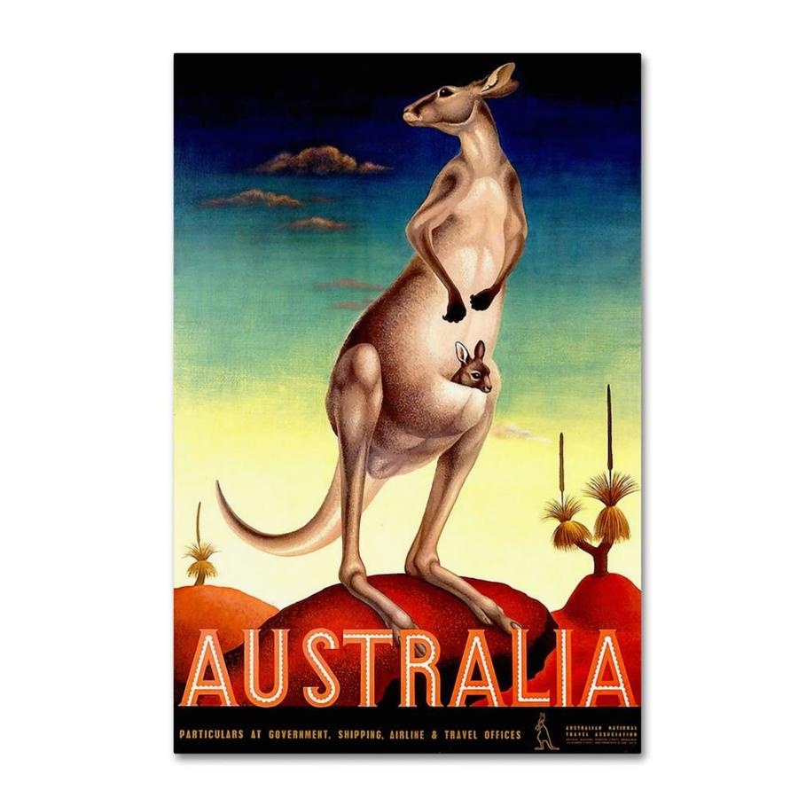 Trademark Fine Art Vintage Apple Collection Australia Kanga 12x19 Canvas Art In The Wall Art Department At Lowes Com