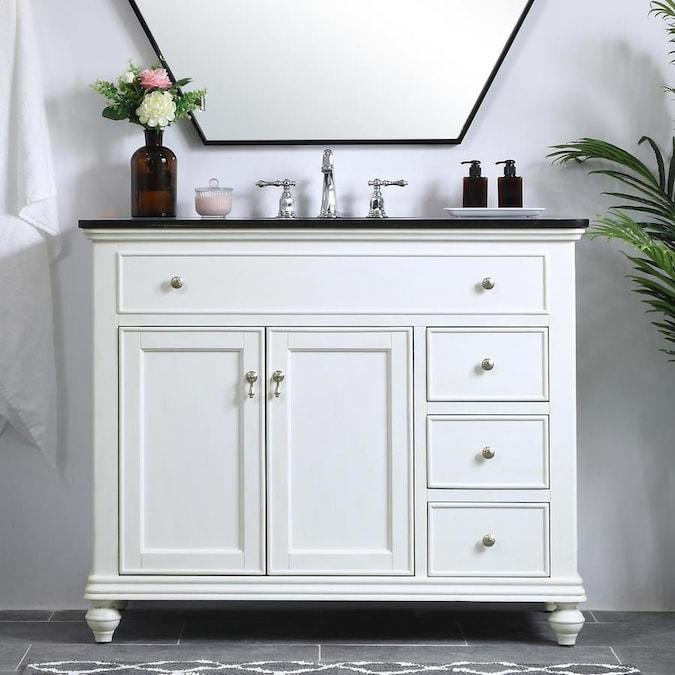 Elegant Decor First Impressions 42-in White Single Sink ...
