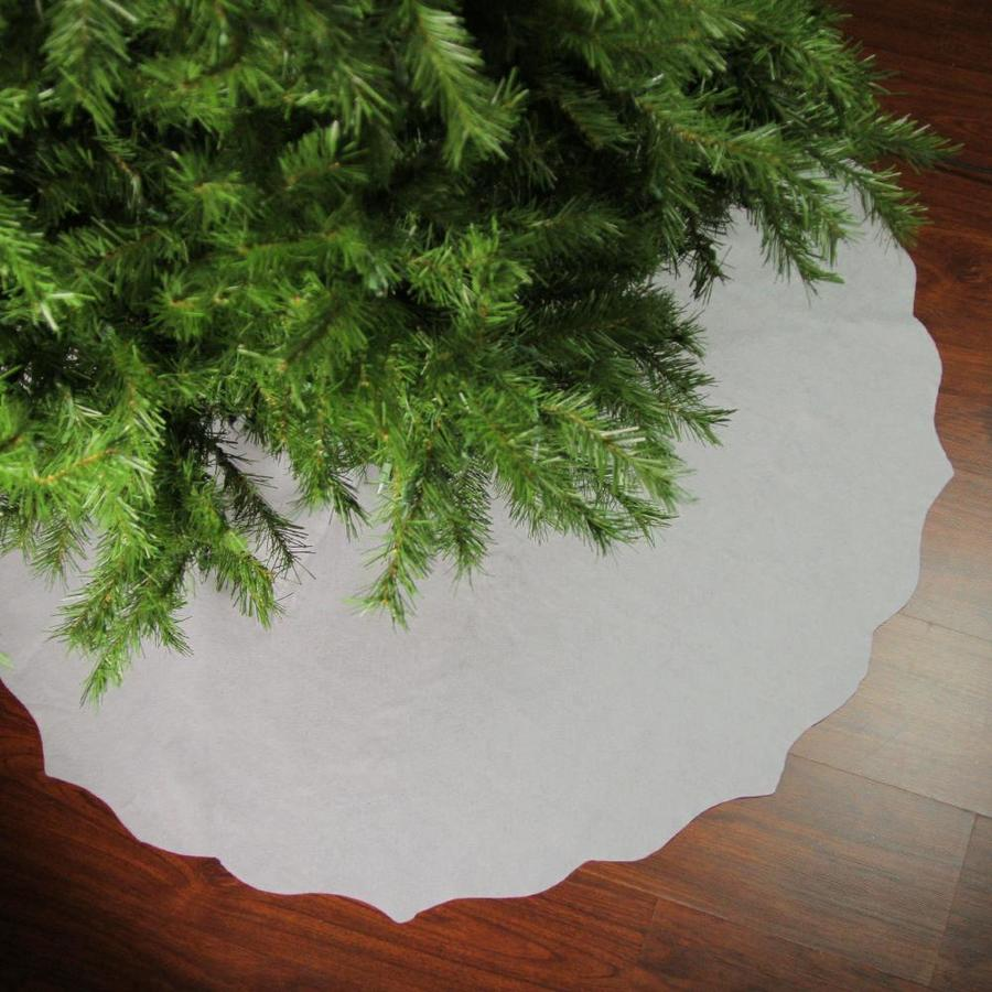 Northlight 48 In Christmas Traditions White Scalloped Edge Christmas Tree Skirt In The Christmas Tree Skirts Collars Department At Lowes Com