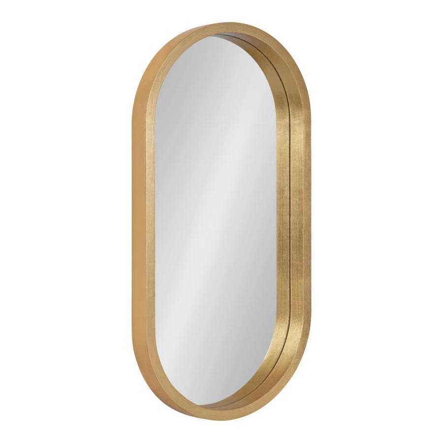 Kate And Laurel Travis 24 In L X 12 In W Oval Gold Framed Wall Mirror In The Mirrors Department At Lowes Com