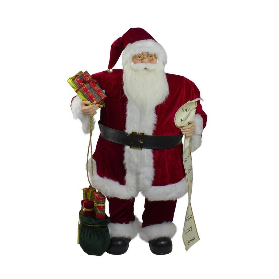 Northlight 32 In Red Traditional Santa Claus Christmas Figure With Naughty Nice List And Gift Bag In The Novelty Christmas Decorations Department At Lowes Com