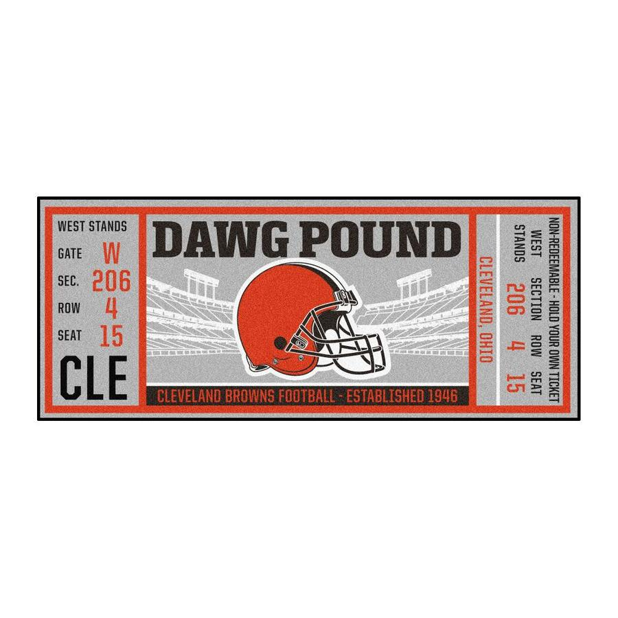 Fanmats Cleveland Browns Nfl Ticket Runner 3 X 6 Brown Indoor Solid Sports Runner In The Rugs Department At Lowes Com