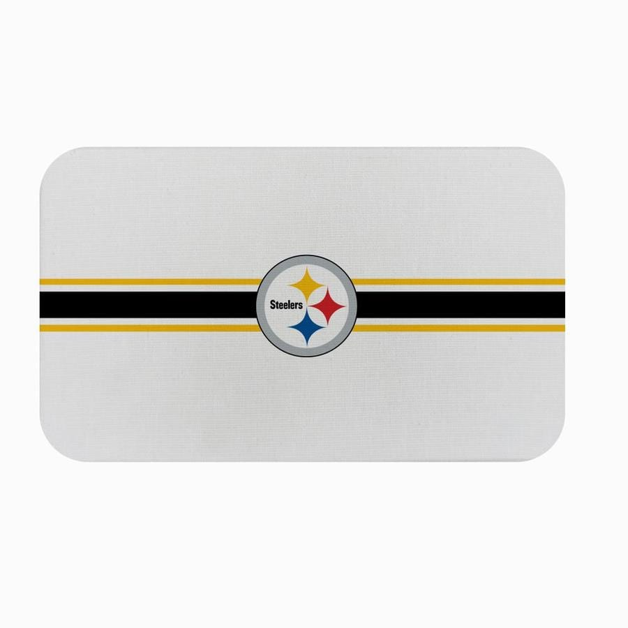 Fanmats Pittsburgh Steelers Nfl Burlap Comfort Mat 1 1 2 Ft X 2 1 2 Ft Off White Rectangular Indoor Anti Fatigue Mat In The Mats Department At Lowes Com