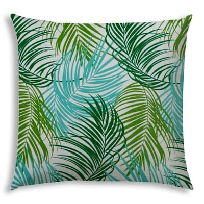 Joita 19 1 2 In X 19 1 2 In Aqua Green White Polyester Square Indoor Decorative Cover In The Throw Pillows Department At Lowes Com