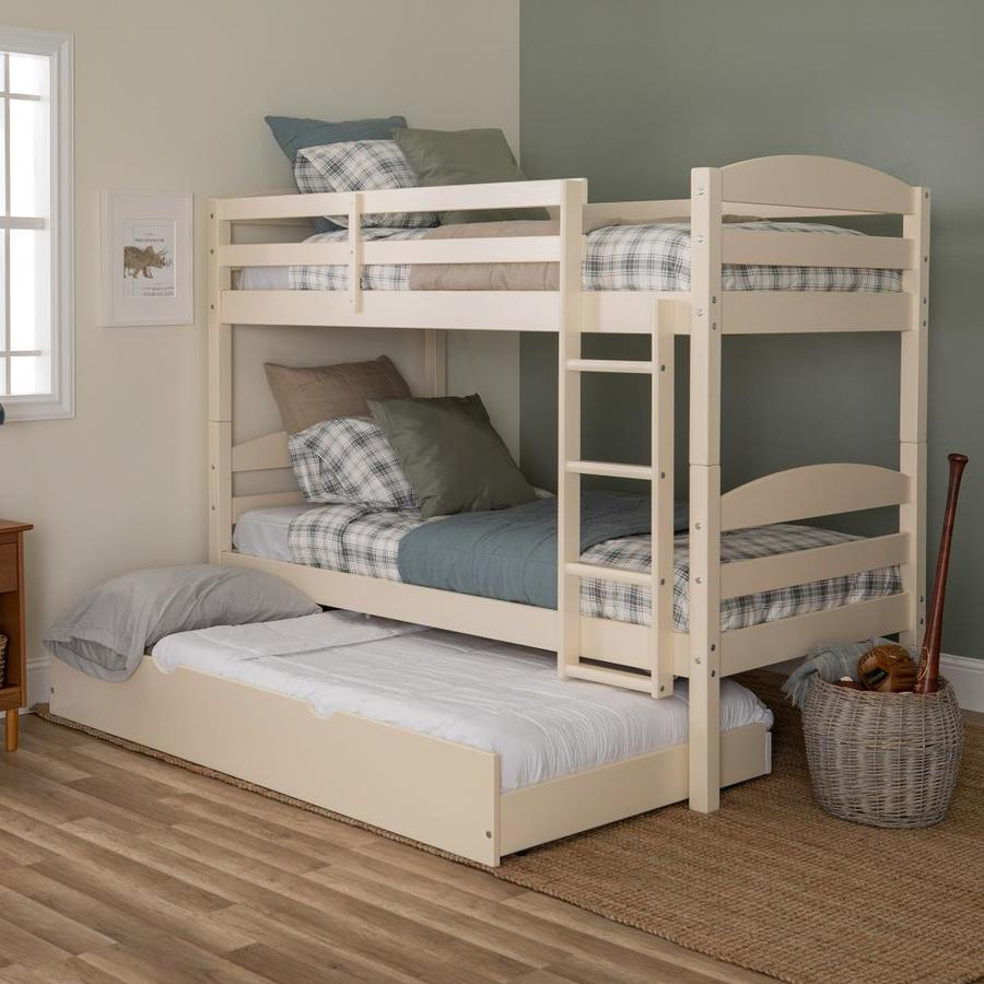 Walker Edison White Twin Over Twin Bunk Bed In The Bunk Beds Department At Lowes Com