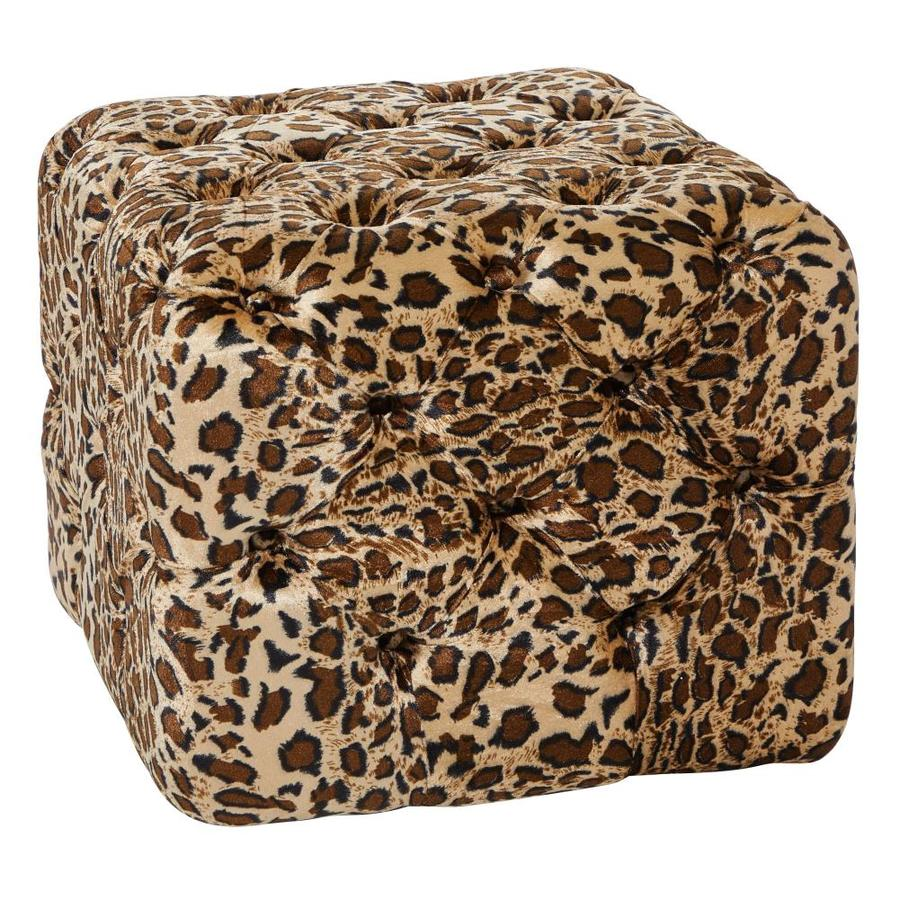 Grayson Lane Glam Multi Canvas Ottoman In The Indoor Ottomans Department At Lowes Com