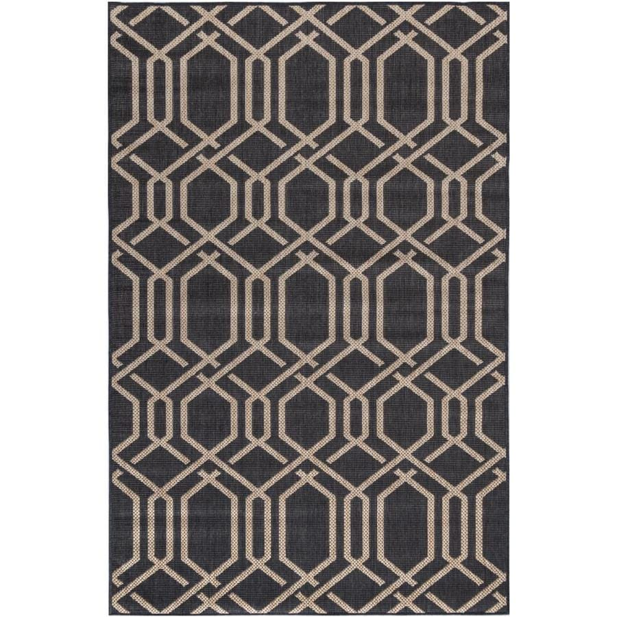 Madeleine Home Area Rug 5 X 8 Charcoal Indoor Outdoor Geometric Area Rug In The Rugs Department At Lowes Com