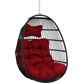 Flowerhouse Pumpkin Hanging Chair Orange Woven Hammock Chair With Stand In The Hammocks Department At Lowes Com