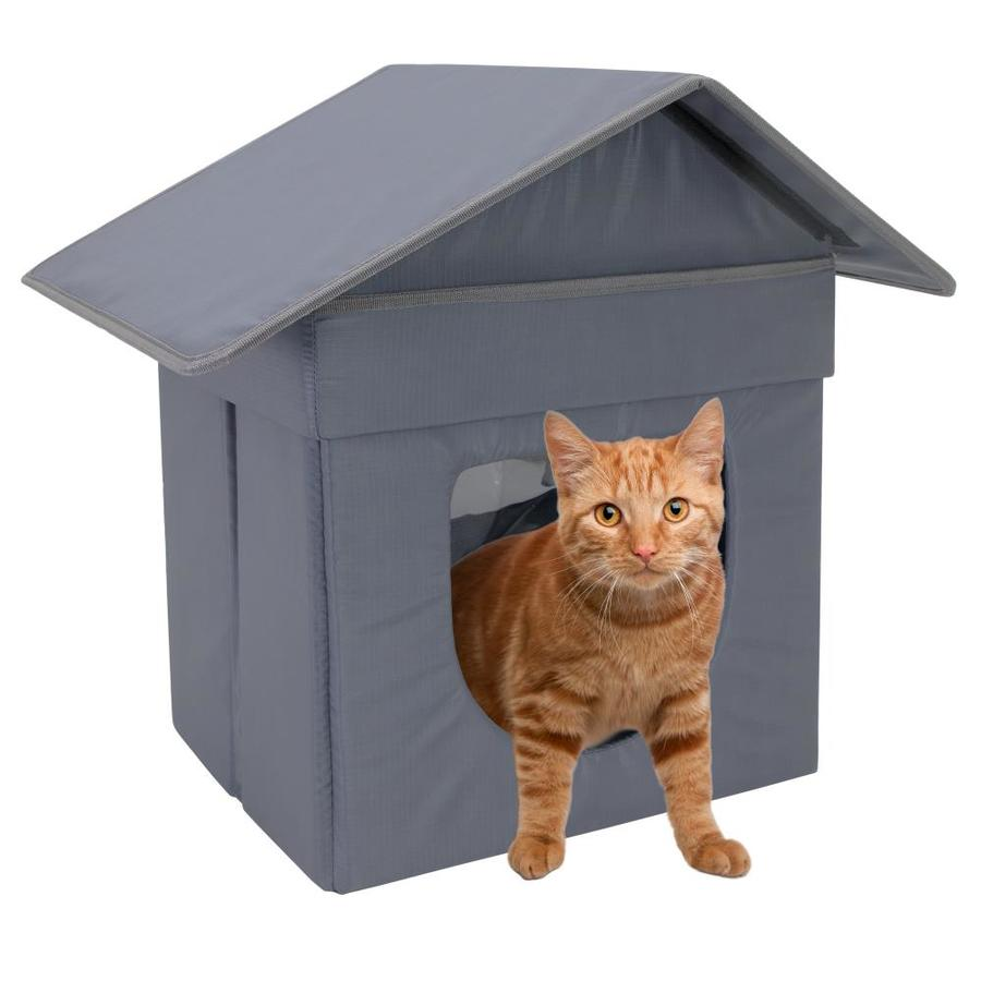 Kitty City Waterproof Polyester Square Cat Bed Medium In The Pet Beds Department At Lowes Com