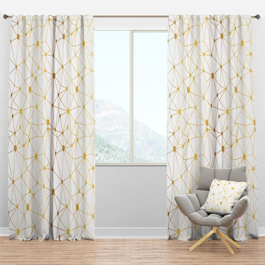 Designart 120 In White Polyester Room Darkening Thermal Lined Single Curtain Panel In The Curtains Drapes Department At Lowes Com