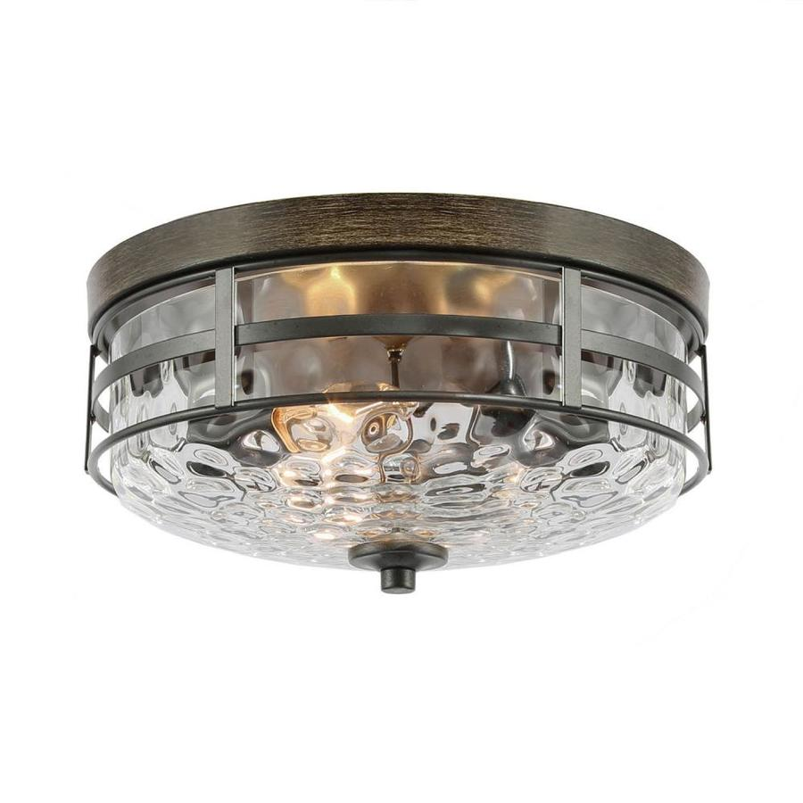 New World Decor Maraca 12 5 In Bronze Modern Contemporary Led Flush Mount Light In The Flush Mount Lighting Department At Lowes Com