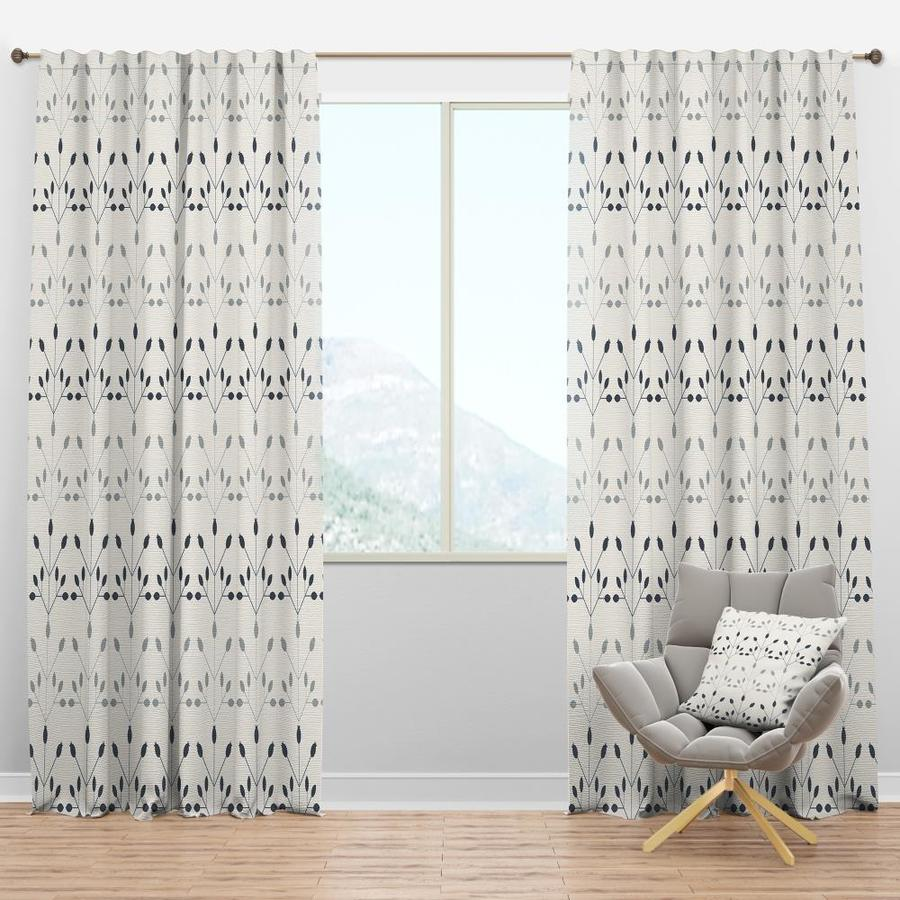 Designart 95 In White Polyester Room Darkening Thermal Lined Rod Pocket Single Curtain Panel In The Curtains Drapes Department At Lowes Com