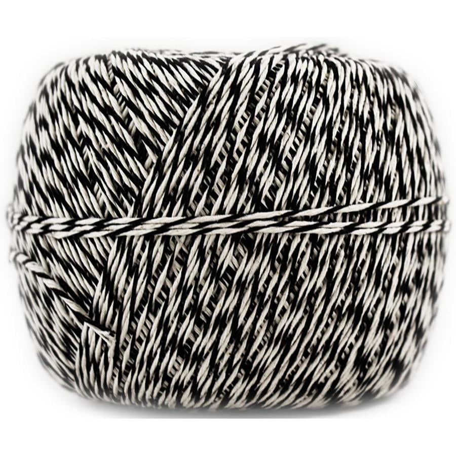 500 yd The Gift Wrap Company 19068AMZ-05 Bakers Twisted Twine Black//White