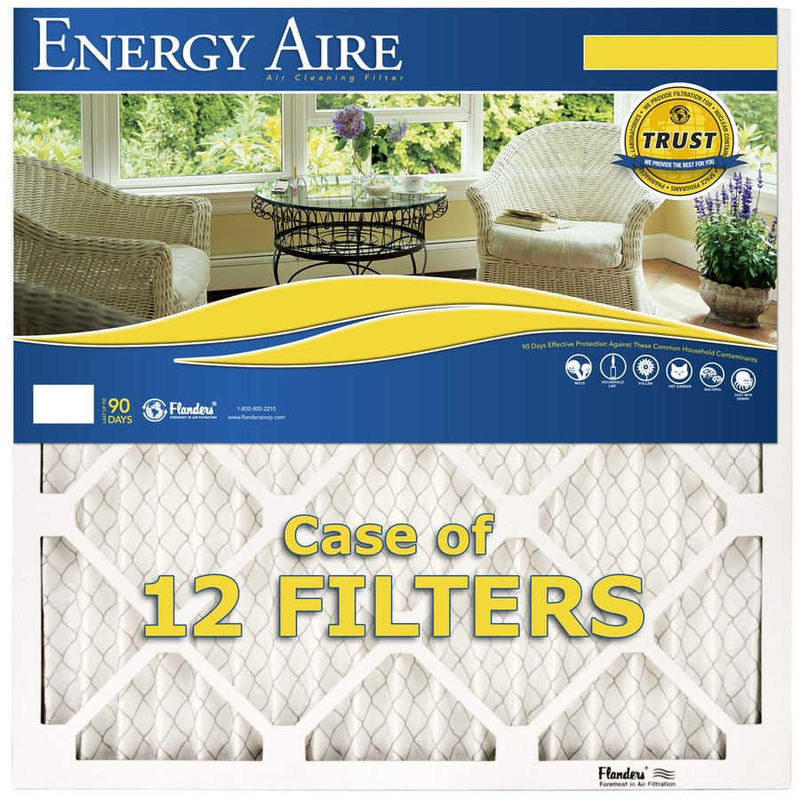 Energy Aire 12-Pack 24-in x 24-in x 1-in Pleated Air Filters