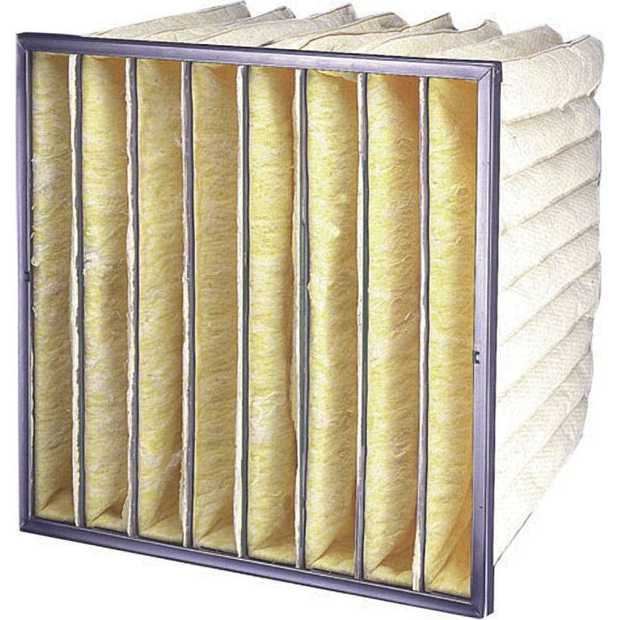 Flanders 8-Pack 24-in x 12-in x 18-in Bag Ready-to-Use Industrial HVAC Filter