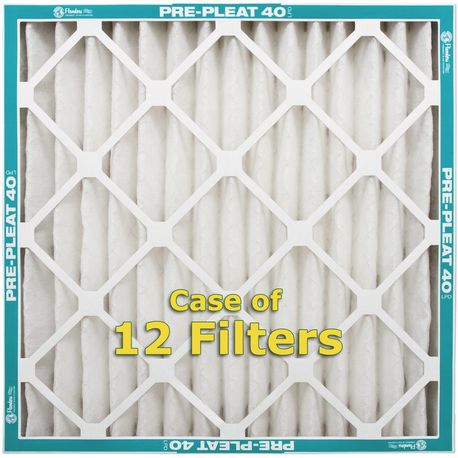 Flanders 12-Pack 16-in x 16-in x 2-in Pleated Air Filters