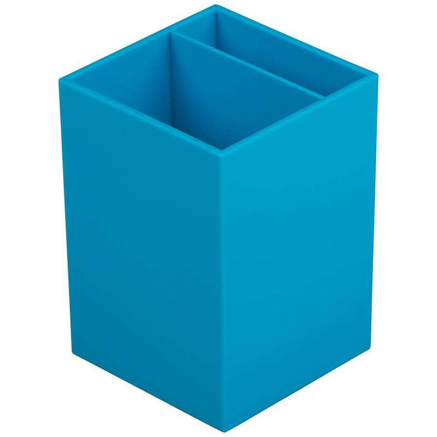 jam paper jam paper plastic pen holder blue desktop pencil cup sold individually in the office accessories department at lowes com