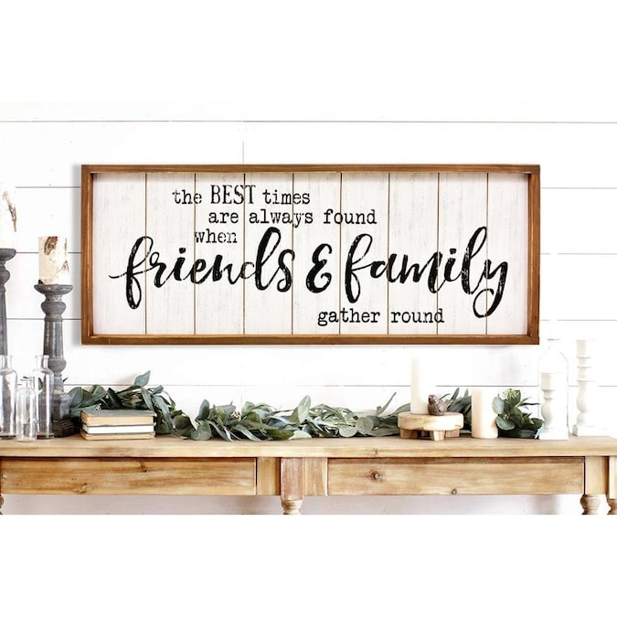 Parisloft Friends Family Wall Sign In The Wall Art Department At Lowes Com