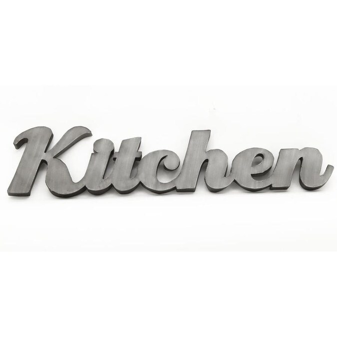 Parisloft 8 25 In H X 37 375 W Kitchen Metal Sign The Wall Art Department At Lowes Com