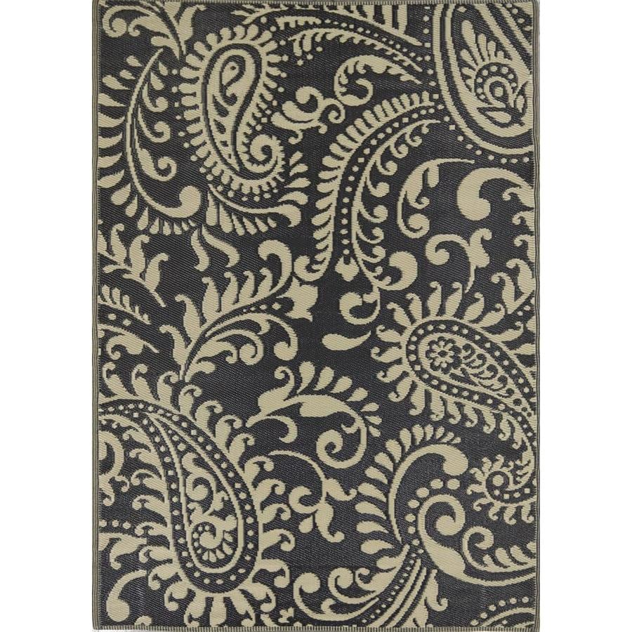 Dynasty Home Key West 5 X 7 Black Indoor Outdoor Paisley Area Rug In The Rugs Department At Lowes Com