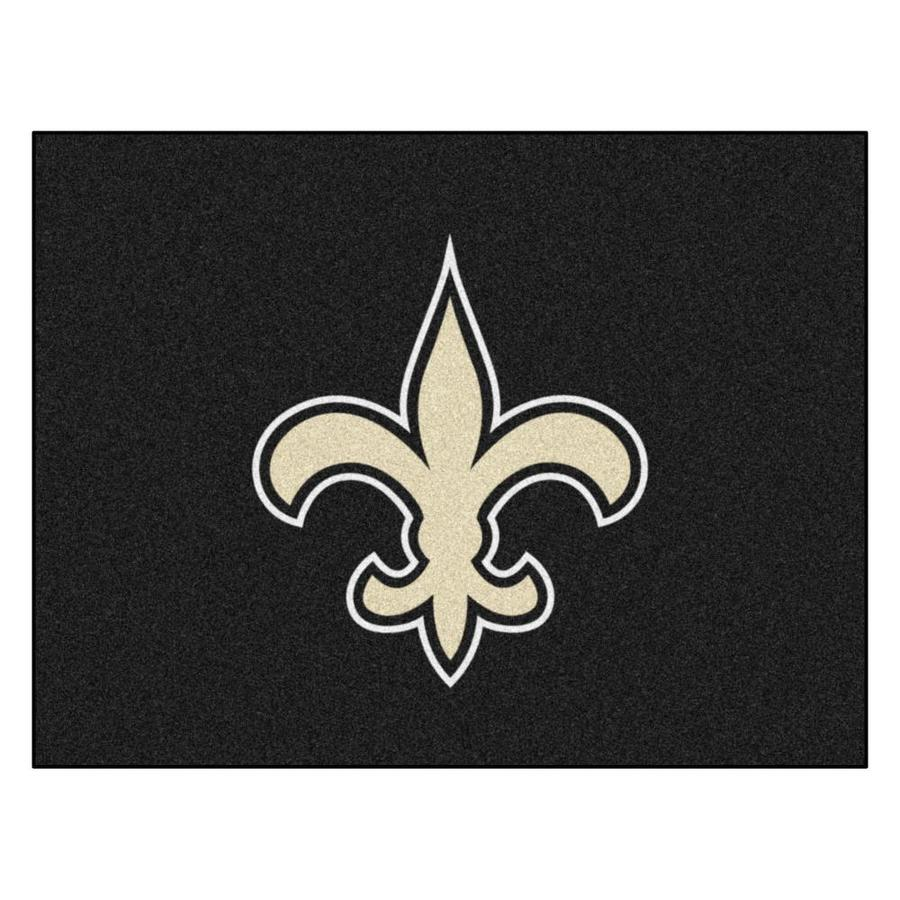 Fanmats New Orleans Saints Nfl All Star Mat 3 X 4 Black Indoor Solid Sports Area Rug In The Rugs Department At Lowes Com