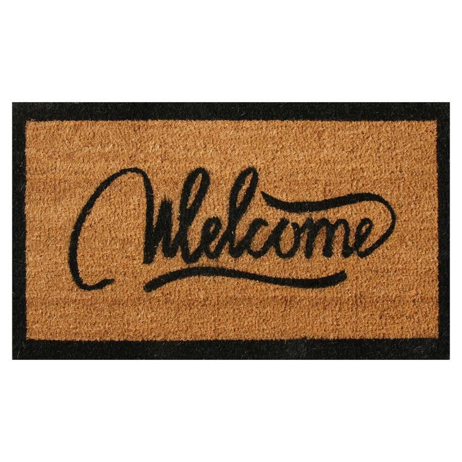Rubber Cal Modern Doormats 1 1 2 Ft X 2 1 2 Ft Brown Rectangular Indoor Outdoor Door Mat In The Mats Department At Lowes Com