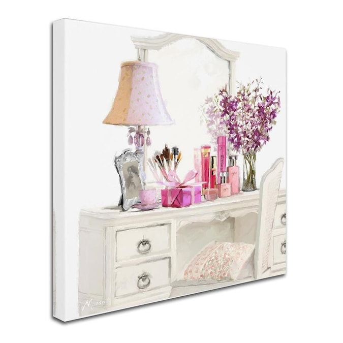 Trademark Fine Art The Macneil Studio Dressing Table Square 18x18 Canvas Art In The Wall Art Department At Lowes Com
