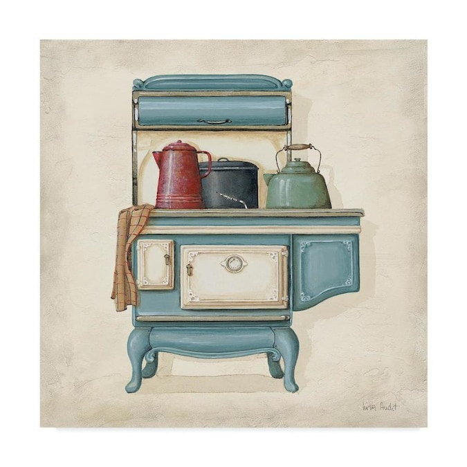 Trademark Fine Art Lisa Audit Stove C 24x24 Canvas In The Wall Department At Lowes Com