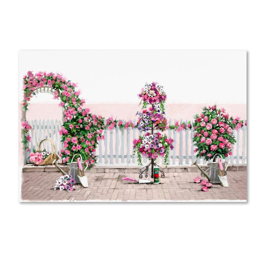 Trademark Fine Art The Macneil Studio Rose Arch 22x32 Canvas Art In The Wall Art Department At Lowes Com