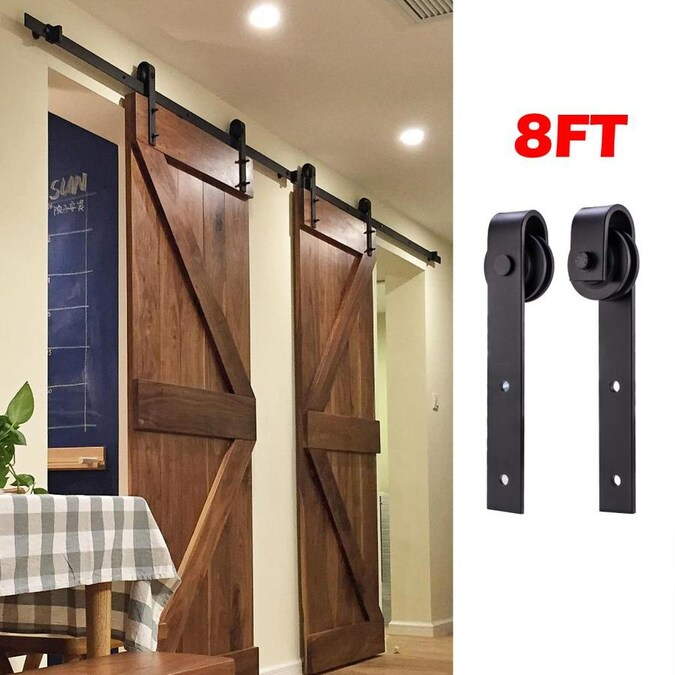 Clihome 8FT Sliding Barn Wood Door Hardware Closet Kit ...