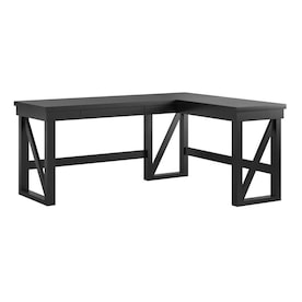 Ameriwood Home Dakota 53 62 In Black Modern Contemporary L Shaped Desk In The Desks Department At Lowes Com