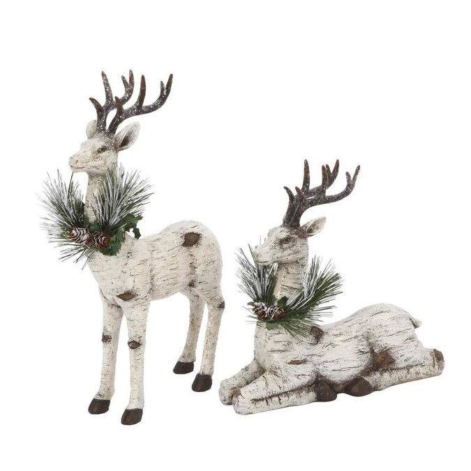 Gerson International 13 In Reindeer 2 Pack In The Christmas Decor Department At Lowes Com