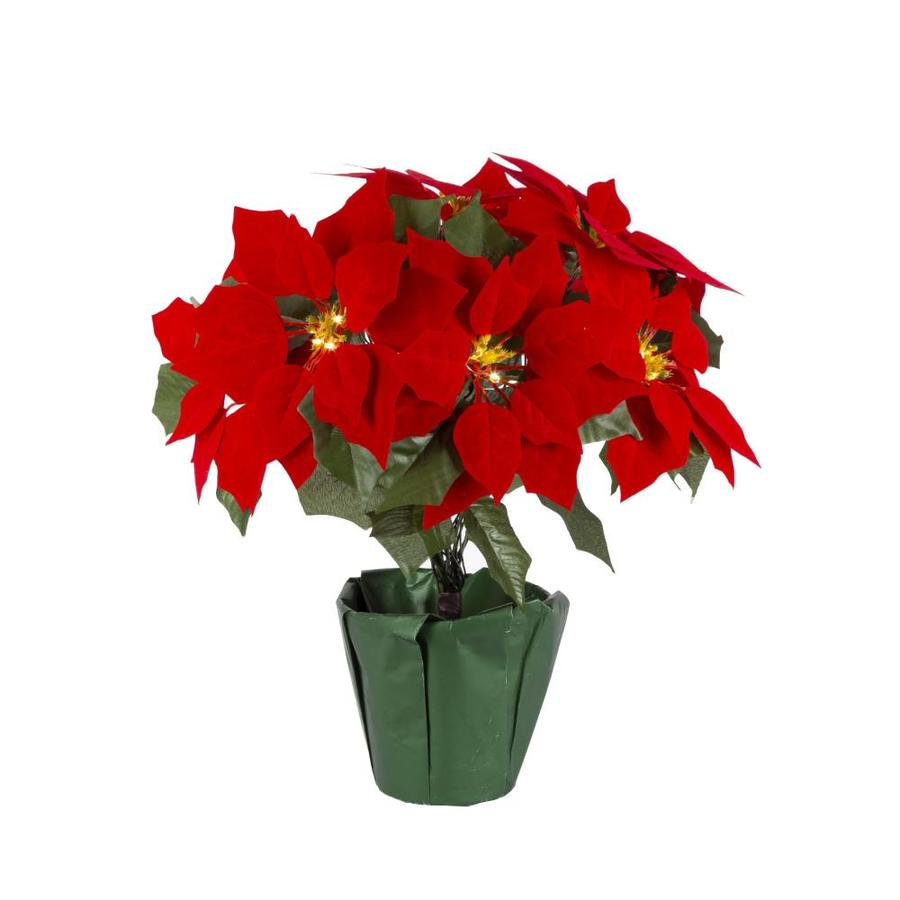 Gerson International 17 75 In Poinsettia In The Christmas Decor Department At Lowes Com