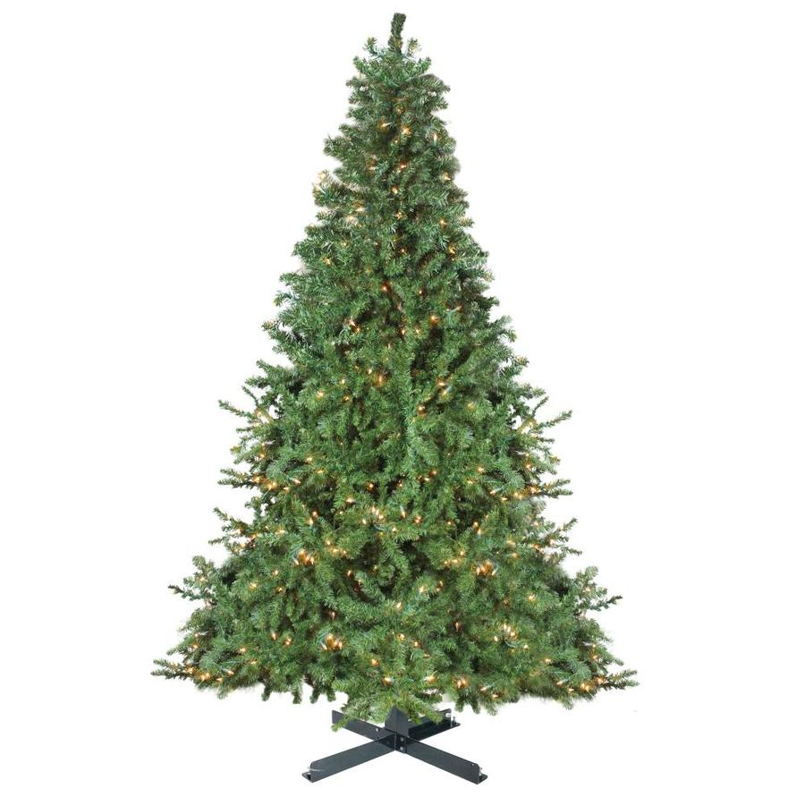 Northlight 15 Ft Canadian Pine Pre Lit Traditional Artificial Christmas Tree With 1800 Constant Warm White Incandescent Lights In The Artificial Christmas Trees Department At Lowes Com