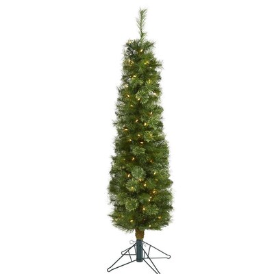 Pencil Pine Artificial Christmas Trees At Lowes Com