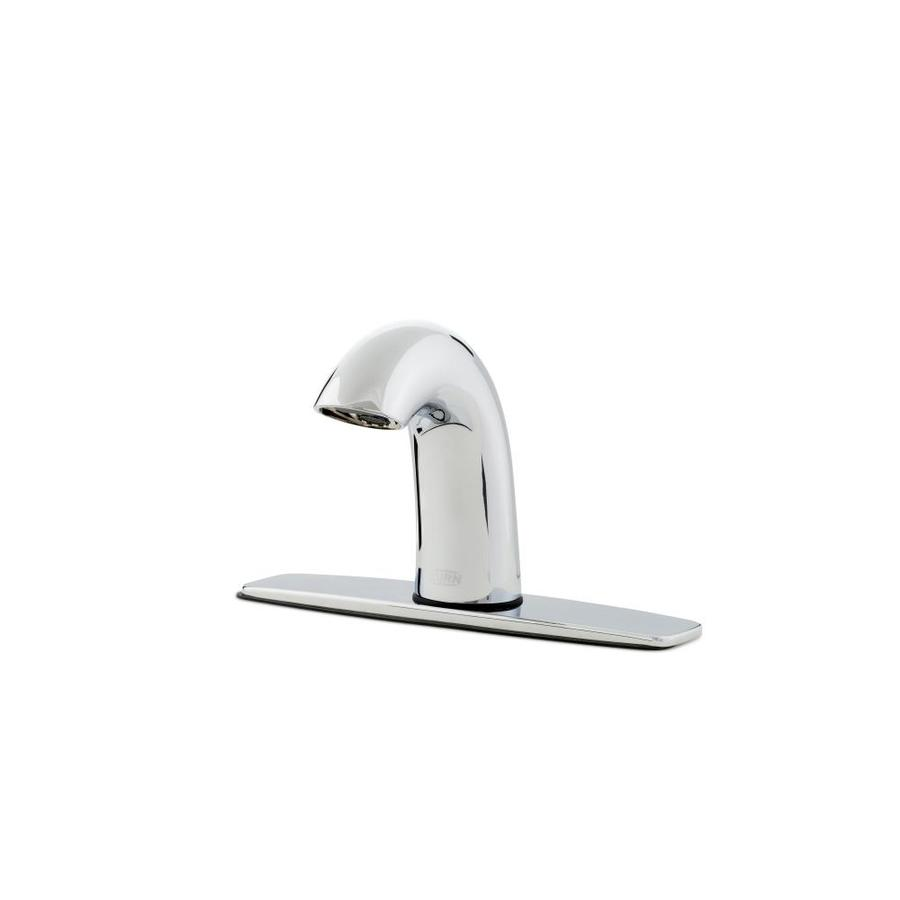 Zurn Aqua Fit Chrome Touchless Single Hole Bathroom Sink Faucet With Deck Plate In The Bathroom Sink Faucets Department At Lowes Com