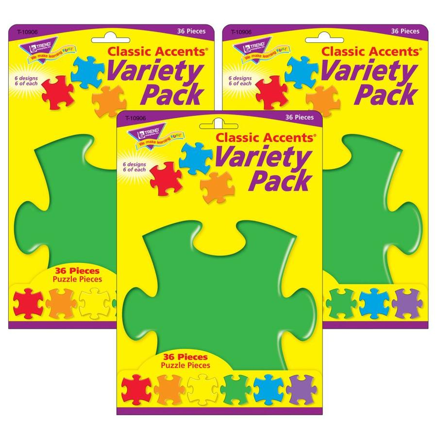 Trend Enterprises Puzzle Classic Accents Variety Pack 36 Per Pack 6 Packs In The Classroom Decorations Department At Lowes Com