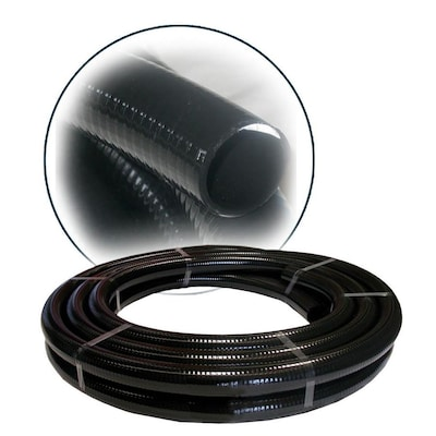 Alpine Corporation 1 In Id Pvc Hose Black X 100 Ft In The Tubing Hoses Department At Lowes Com