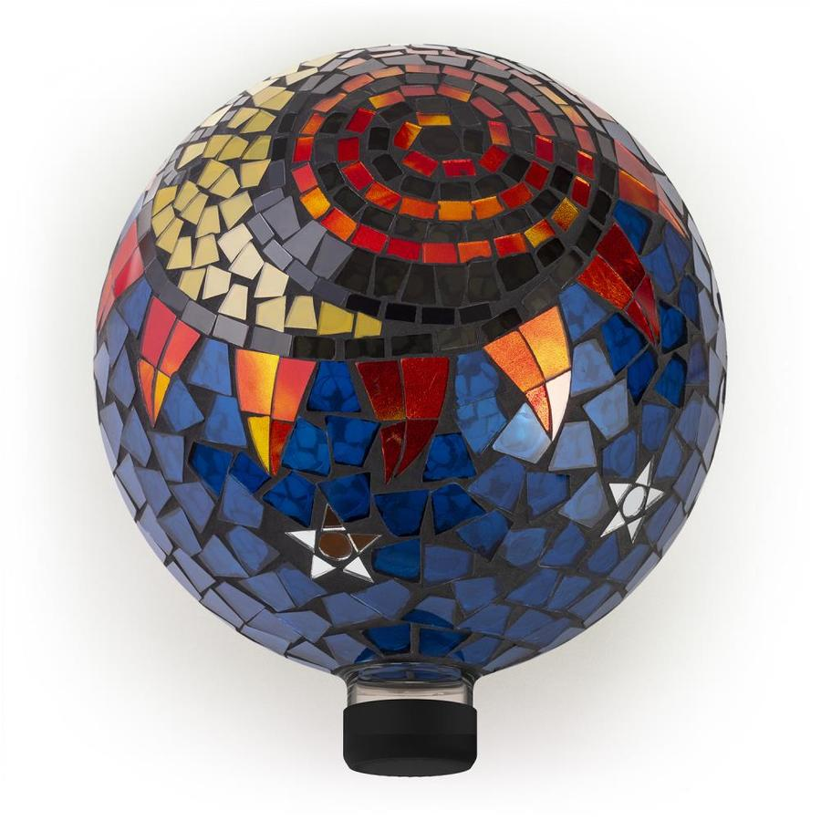 Alpine Corporation 12 In Multicolor Blown Glass Gazing Ball In The Gazing Balls Stands Department At Lowes Com