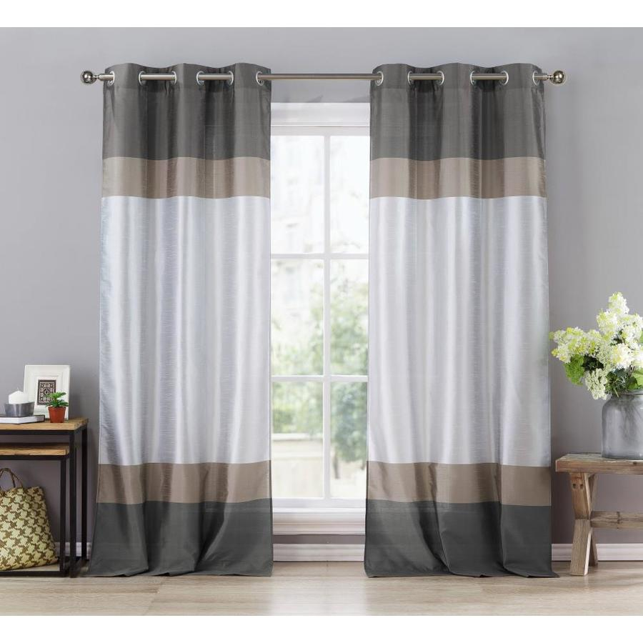 Duck River Textile 84 In Grey Taupe Silver Polyester Sheer Standard Lined Grommet Curtain Panel Pair In The Curtains Drapes Department At Lowes Com