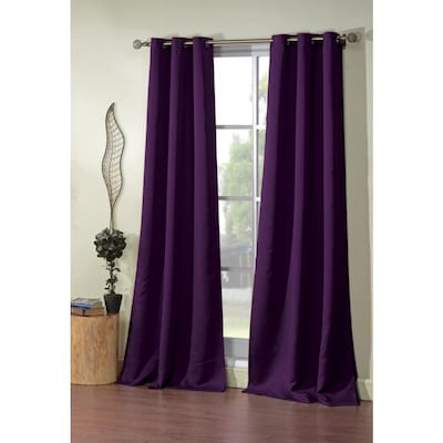 Duck River Textile 84 In Plum Polyester Blackout Standard Lined Grommet Curtain Panel Pair In The Curtains Drapes Department At Lowes Com