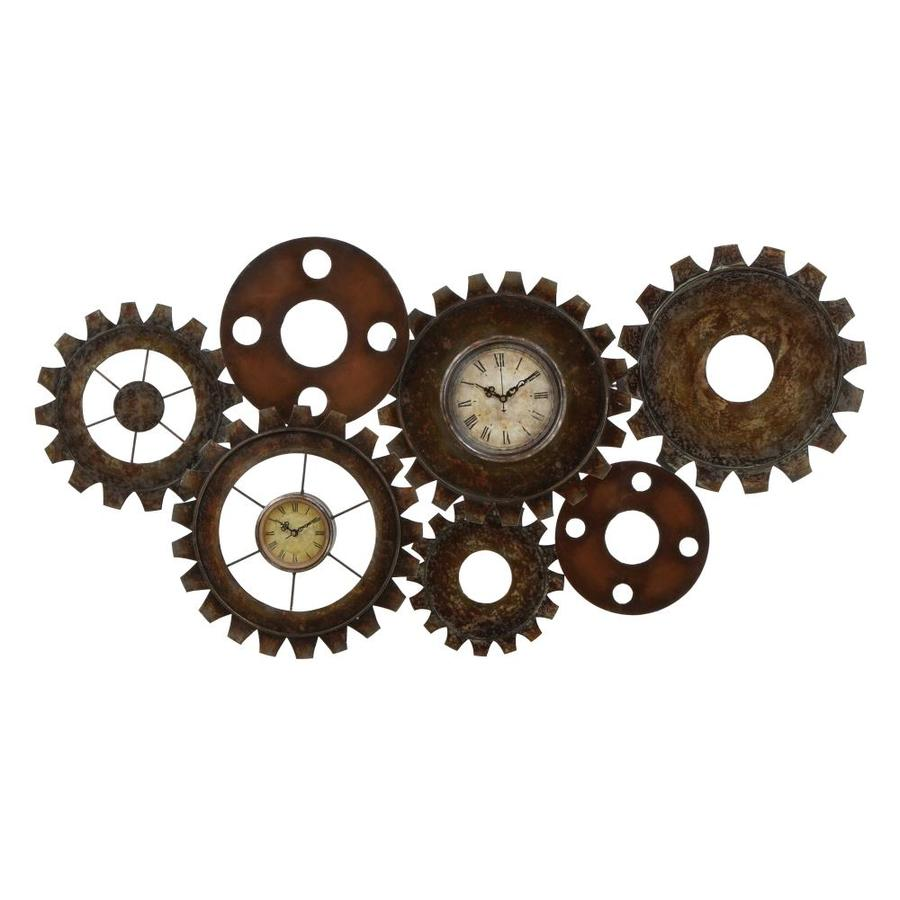 Grayson Lane Extra Large Industrial Gear Double Wall Clock 34 X 17 In The Wall Art Department At Lowes Com