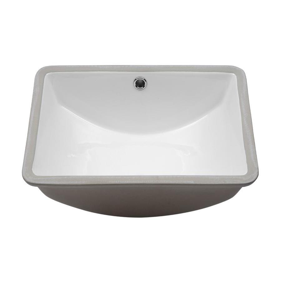 Lordear Porcelain Vanity Sink White Ceramic Undermount Rectangular Bathroom Sink With Overflow Drain 18 In X 14 In In The Bathroom Sinks Department At Lowes Com