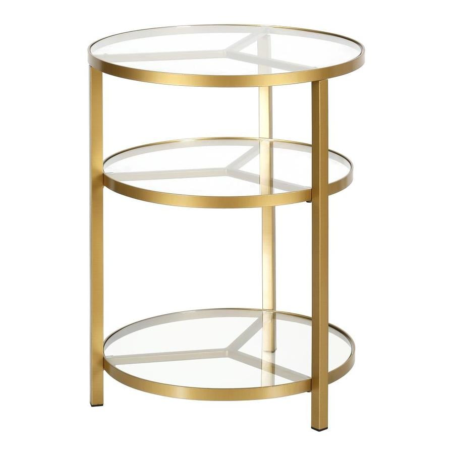 Hailey Home Helen Brass Round Glass End Table In The End Tables Department At Lowes Com