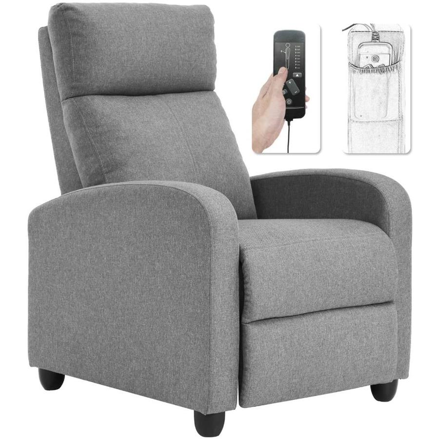 Fdw Recliner Chair For Living Room Win Back Single Sofa Massage Recliner Sofa Reading Chair Home Theater Seating Modern Reclining Chair Easy Lounge With Fabric Padded Seat Backrest In The Guest