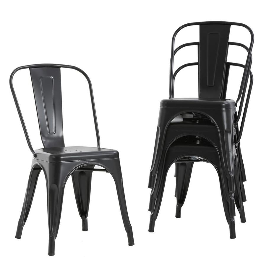 Fdw Metal Dining Chairs Set Of 4 Indoor Outdoor Chairs Patio Chairs Kitchen Metal Chairs 18 In Seat Height Restaurant Chair Metal Stackable Chair Side Bar Chairs 330lbs Weight Capacity In The