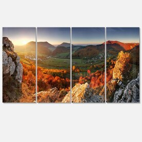 Designart Panorama Mountains Slovakia Landscape Canvas Art Print In The Wall Art Department At Lowes Com
