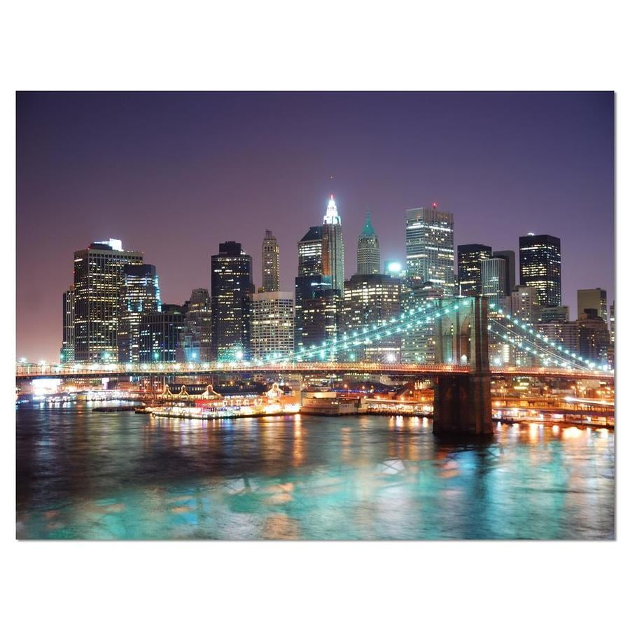 Designart New York City Manhattan Skyscrapers Cityscape Canvas Print In The Wall Art Department At Lowes Com